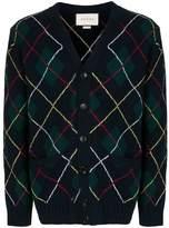 Gucci argyle-knit cardigan