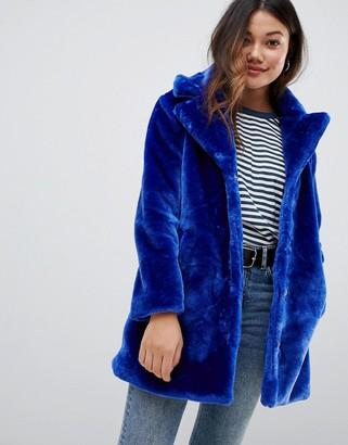 Brave Soul tasmin faux fur tailored coat