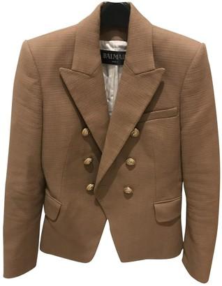 Balmain Camel Cotton Jackets
