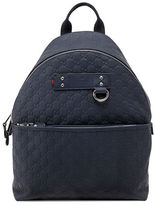 Gucci Guccissima Rubberized Leather Backpack, Blue