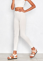 Missy Empire Ruby White Ribbed Legging