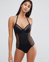 Pour Moi? Pour Moi Underwired Halter Swimsuit