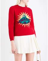 Gucci UFO-knit wool jumper