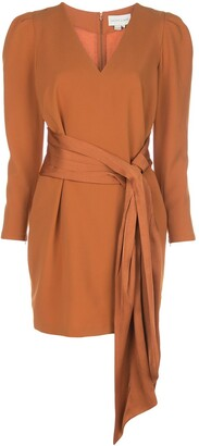 Sachin + Babi Draped-Detail Mini Dress