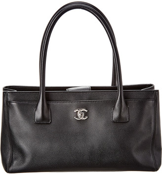 Chanel Black Calfskin Leather Small Cerf Bag