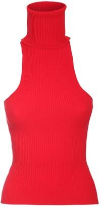 Sunnei Sleeveless Knit Turtleneck Top