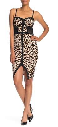 Material Girl Binded Leopard Dress