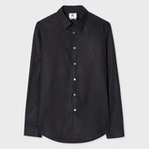 Paul Smith Men's Tailored-Fit Black Cotton Shirt With Contrast Cuff Lining