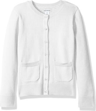Amazon Essentials Girls' Uniform Cardigan Sweater Snow White 3T