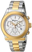 "Salvatore Ferragamo Men's F78LCQ9501 ""S095 Salvatore"" Stainless Steel and Gold Ion-Plated Watch"