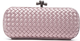 Bottega Veneta Long Knot Clutch in Pink,Animal Print.