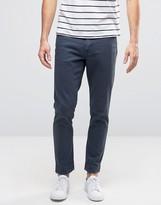 Asos Skinny Ankle Grazer Jeans In Dark Blue