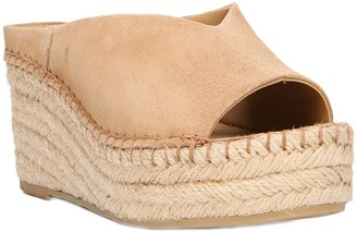 Franco Sarto Wedge Espadrille Slide Sandals - Pine