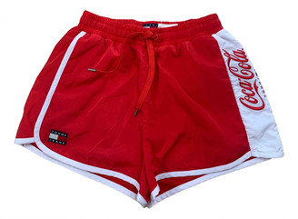 Tommy Jeans Red Polyester Shorts