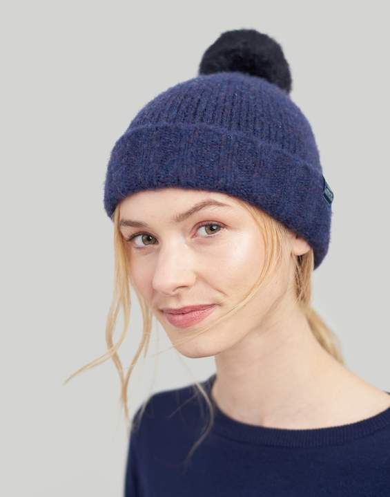 9c4aceaa3 Navy Toasty Heavyweight Beanie With Pop-A-Pom Size One Size