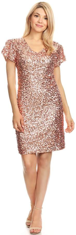 6cc63c394a3 Rose Gold Sequin Dress - ShopStyle Canada