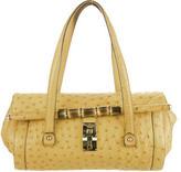 Gucci Ostrich Bamboo Bullet Bag