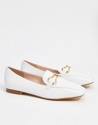 Raid Clareta loafers with gold trim in white