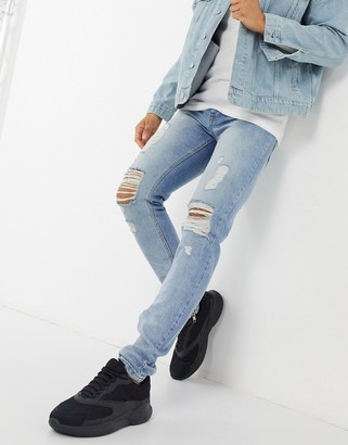 Criminal Damage uzi skinny fit jean in light wash