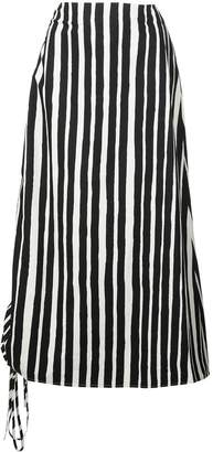 Beaufille striped midi skirt