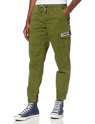 Tommy Jeans Men's TJM Tapered Cuffed Cargo Pant Sports Jogger