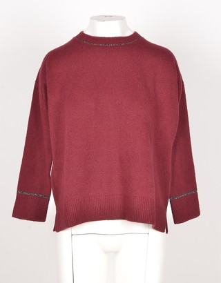 Bruno Manetti Bordeaux Wool & Cashmere Blend Women's Sweater