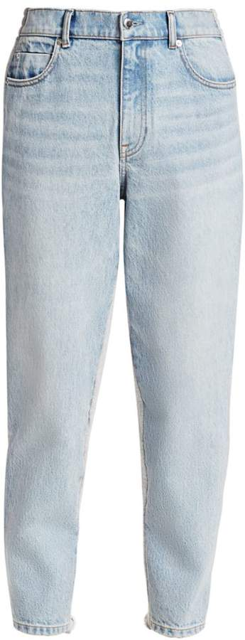 Alexander Wang Denim & Sweatpant Combo Pants