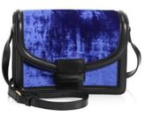 Dries Van Noten Velvet & Leather Shoulder Bag