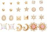 Charlotte Russe Embellished Celestial Stud Earrings - 12 Pack