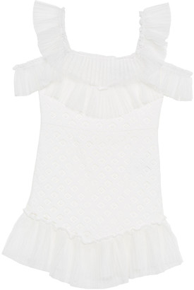 Bardot Junior Sophie Lace Cold-Shoulder Dress, Size 8-16