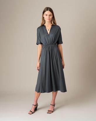 Jigsaw Shirred Waist Kimono Dress