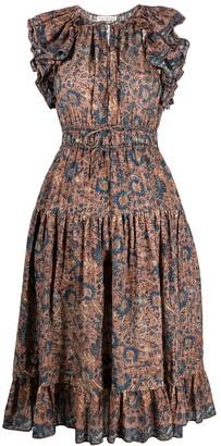 Ulla Johnson Ruffle-Detail Tie-Fastening Dress
