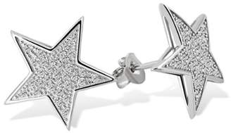 Goldmaid Women's 925 Sterling Silver Star Earstuds with white Zirconia