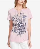 Jessica Simpson Juniors' Magnolia Lead By Love Graphic T-Shirt