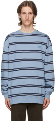 Acne Studios Blue Striped Patch Sweatshirt