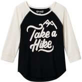 Mudd Girls 7-16 & Plus Size Raglan Graphic Tee