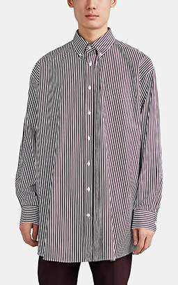 Maison Margiela Men's Cotton End-On-End Oversized Button-Down Shirt - Wine