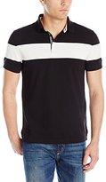 Nautica Men's Slim Fit Chest Stripe Polo Shirt