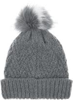 Accessorize Crazy Faux Fur Pom Beanie Hat