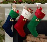Pottery Barn Velvet Jingle Bell Stocking