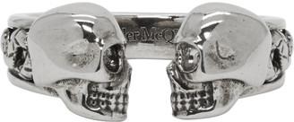 Alexander McQueen Silver Skull Ring