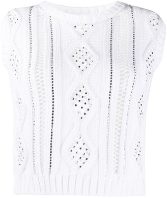 Ermanno Ermanno Sleeveless Cut-Out Detail Knitted Top