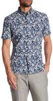 Perry Ellis Short Sleeve Splatter Print Regular Fit Shirt