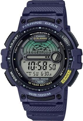 Casio Men's Fishing Timer Quartz Watch with Resin Strap