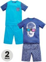 Very Boys Glow in the Dark Shorty Pyjamas (2 Pack)