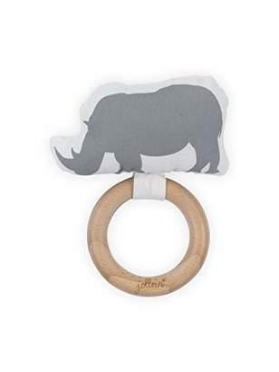 Camilla And Marc Jollein Teething Ring, 7 cm, Safari Stone Grey