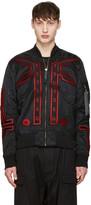 Marcelo Burlon County of Milan Black Alpha Industries Edition Manuel Ma-1 Bomber Jacket