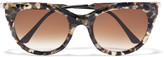 Thierry Lasry Dirty Mindy cat-eye acetate and silver-tone sunglasses