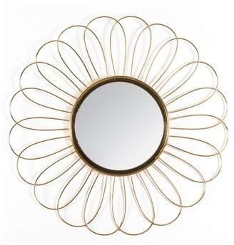 """Madeleine Home Solda Floral Pattern Wire Frame 28"""" Mirror, Gold"""