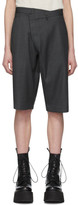 R 13 Grey Crossover Trouser Shorts
